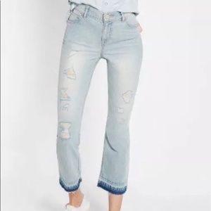 NWT Express Bell crop high rise jeans Sz 10